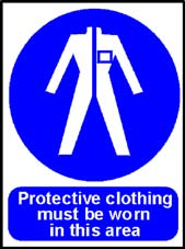 More info on 'Protective Clothing Must be Worn in This Area' - Safety Sign