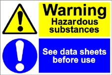 More info on 'Warning Hazardous Substances - See Data Sheets...' - Safety Sign